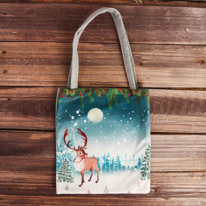 Сумочка для подарков «Северный олень»