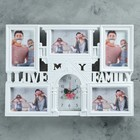 "Wall clock, series: Photo ""Paris notes"", 5 frames, 50х35 cm"