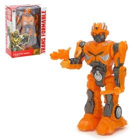 "Robot ""Autobot"", light and sound effects, runs on batteries"
