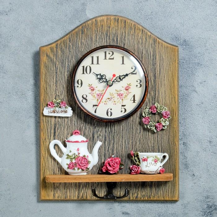 "Часы настенные, серия: Кухня, ""Лё Сенк"", с крючком, 26х17 см"