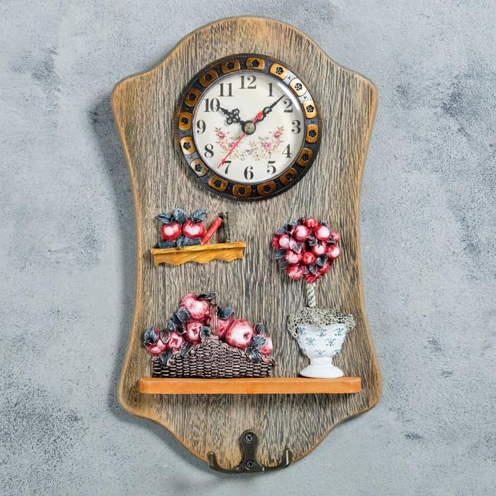 "Часы настенные, серия: Кухня, ""Мафала"", с крючком, 29х17 см"