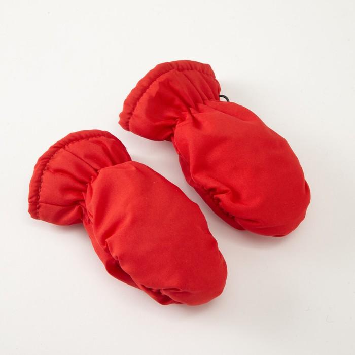 Варежки зимние MINAKU, размер 14 (3-4 года), цвет красный