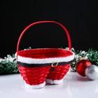Корзина «Новогодние штаны», красные, 23×12×13/23 см, шпон