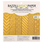 Набор бумаги для скрапбукинга Bazzill Basics «Kraft with gold foil» 24 листа 15.2х15.2 см
