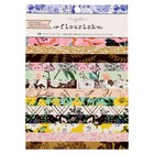 Набор бумаги для скрапбукинга Crate Paper «FLOURISH» 15х20 см