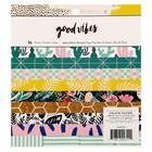 Набор бумаги для скрапбукинга Crate Paper  «Good vibes» 36 листа - 15.2х15.2 см (36 листов)   452309