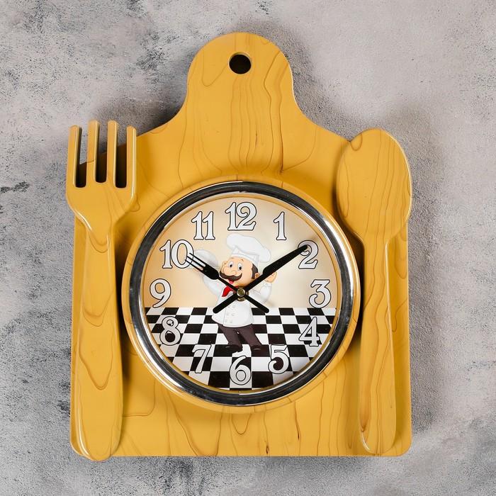 """Часы настенные, серия: Кухня, """"Лориш"""", 36х29 см, под дерево"""