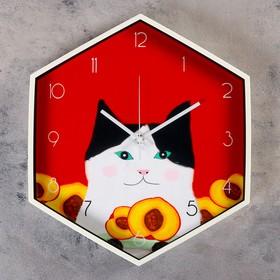 """Часы настенные, серия: Детские, """"Персик"""", 34х41 см"""