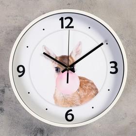 """Часы настенные, серия: Животный мир, """"Бэмби"""", d=30 см"""