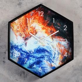 """Часы настенные, серия: Классика, """"Буря стихий"""", 39х35 см"""