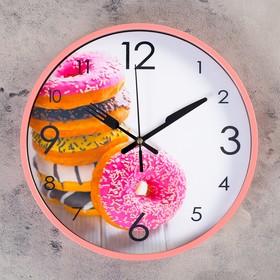 """Часы настенные, серия: Кухня, """"Донаты в глазури"""", d=30 см"""