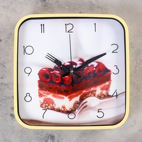 """Часы настенные, серия: Кухня, """"Пьяная вишня"""", 30х30 см"""