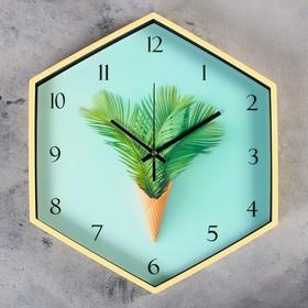 """Часы настенные, серия: Кухня, """"Тропический десерт"""", 34х39 см"""