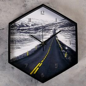 """Часы настенные, серия: Природа, """"Белфэр"""", шестиугольные, 34х39 см"""