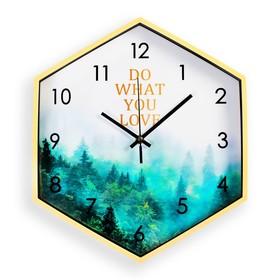 """Часы настенные, серия: Природа, """"Озетт"""", шестиугольные, 34х39 см"""