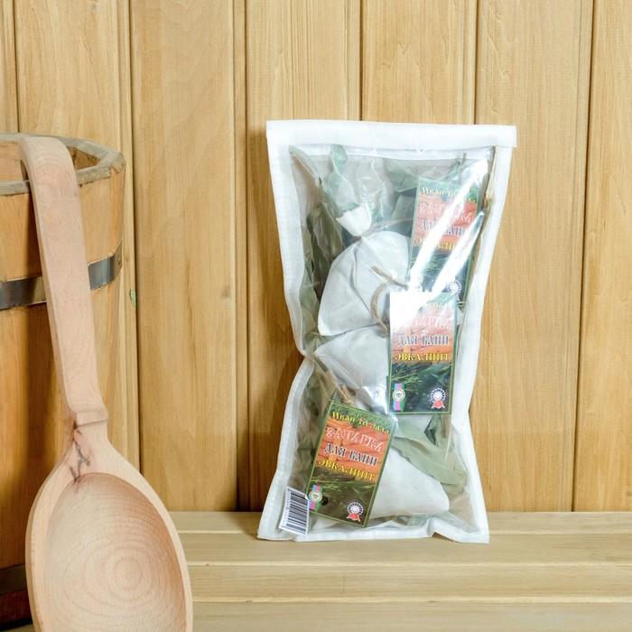 Набор запарок эвкалиптовых 30 гр. с пучком эвкалипта в мешочке