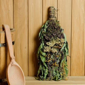 """Broom for a bath """"Herbal cocktail"""" of bouquet of various herbs, individually wrapped"""
