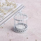 Candle holder with candle 6 x 8 cm