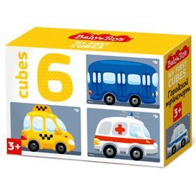 Кубики «Городской транспорт», набор 6 шт