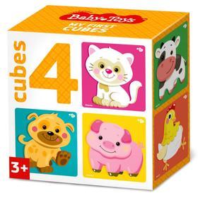 Кубики «Домашние животные», 4 шт