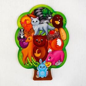 """Головоломка """"Лесные животные"""", размер 28*20 см, головоломка логическая"""