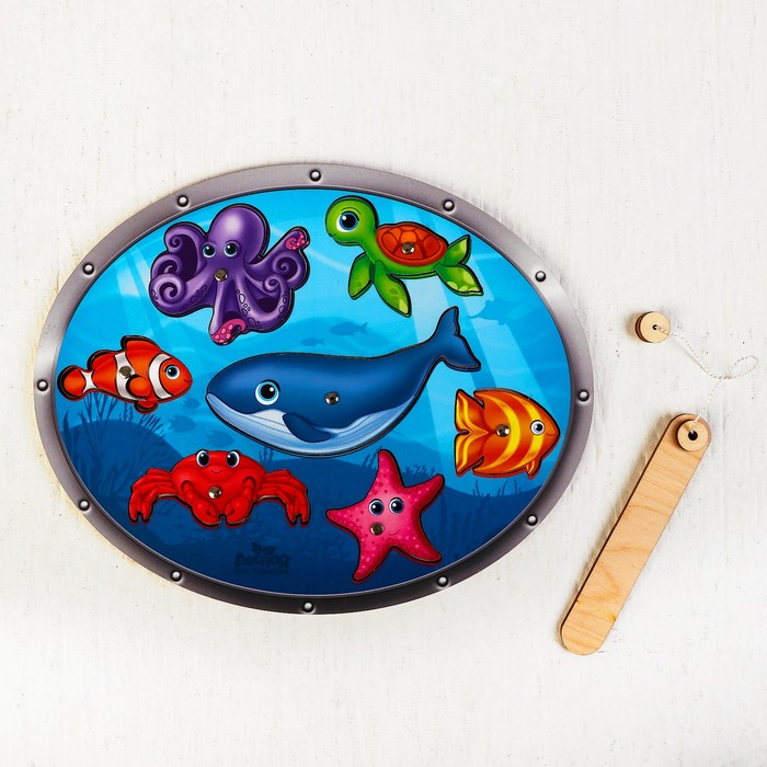 "Магнитная рыбалка ""Морские обитатели"", головоломка"