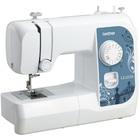 Швейная машина Brother LS 2225s, 50 Вт, 14 операций, полуавтомат, бело-синяя