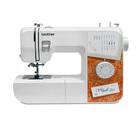 Швейная машина Brother Style 20, 50 Вт, 17 операций, полуавтомат, бело-оранжевая