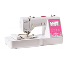 Швейно-вышивальная машина Brother M270, 45 Вт, дисплей, 80 дизайнов, бело-розовая