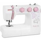 Швейная машина Janome Pink 25, 60 Вт, 25 операций, автомат,бело-розовая