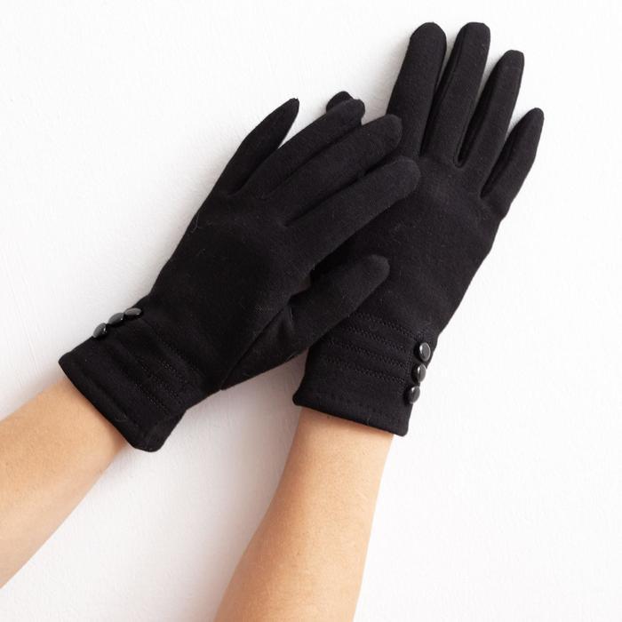 """Перчатки женские """"Леди"""", размер 17, цвет чёрный"""