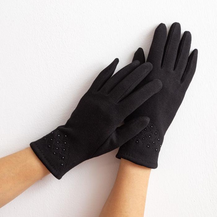 """Перчатки женские """"Классика"""", размер 17, цвет чёрный"""