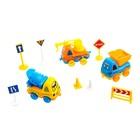 Машина «Забавная стройка», набор 3 машины и дорожные знаки, цвета МИКС - фото 105644931