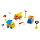 Машина «Забавная стройка», набор 3 машины и дорожные знаки, цвета МИКС - фото 105644932