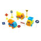 Машина «Забавная стройка», набор 3 машины и дорожные знаки, цвета МИКС - фото 105644933