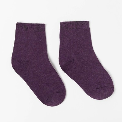 Woolen children's socks, color purple, p-p 14-16