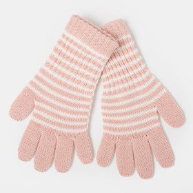 Gloves for girls, elongated, pink, size 16