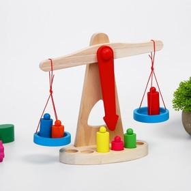 """Деревянная игрушка Баланс """"Весы с гирьками"""""""