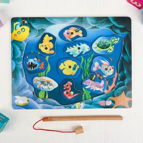 """Деревянная игрушка Игра на ловкость """"Веселая рыбалка"""", 30×22,5×0,7 см"""
