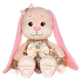 Мягкая игрушка «Зайка Lin» в золотом плате с пайетками, 20 см, МИКС