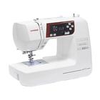 Швейная машина Janome DC 601, 35 Вт, 30 операций, автомат, дисплей, бело-красная