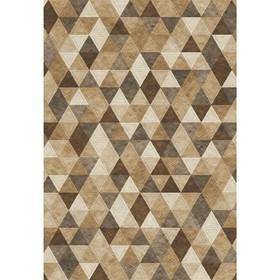 Ковёр прямоугольный Matrix D578, размер 160 х 230 см, цвет beige