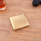 """Портсигар """"Астория"""", на 20 сигарет, 8.8х8.2х1.7 см, золотой"""