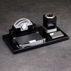 Set 4in1 desktop (clock, unit for paper, business card holder, pencil holder) 34*17*13cm