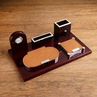 5 in 1 table set (clock, block of paper, pencil, business card holder) 34*20*13cm