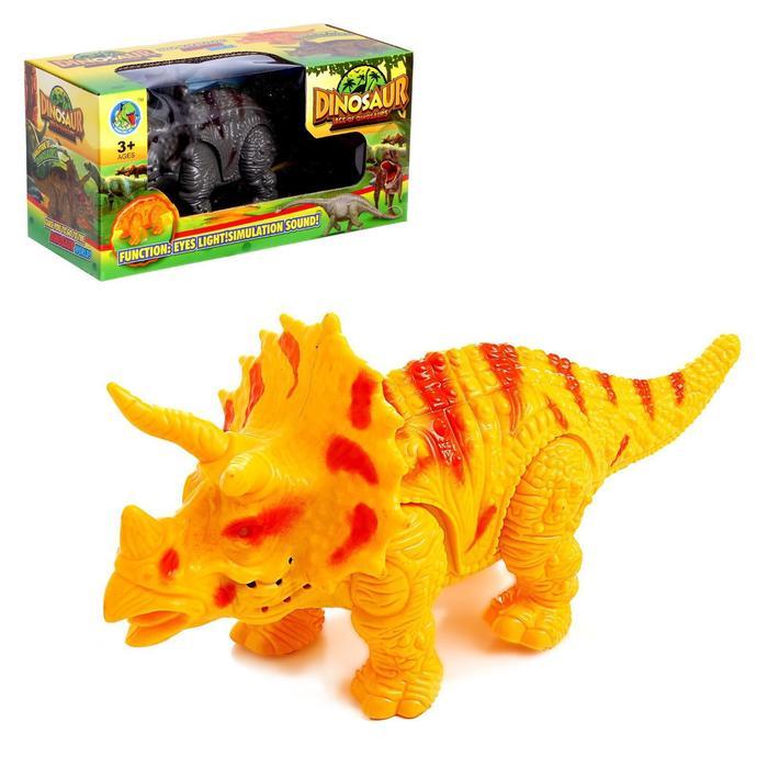 Динозавр «Трицератопс», работает от батареек, световые и звуковые эффекты