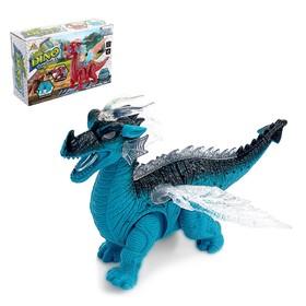 Динозавр «Дракон», работает от батареек, световые и звуковые эффекты, МИКС