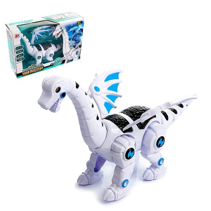 Динозавр-робот «Робозавр», работает от батареек, световые и звуковые эффекты - фото 643795