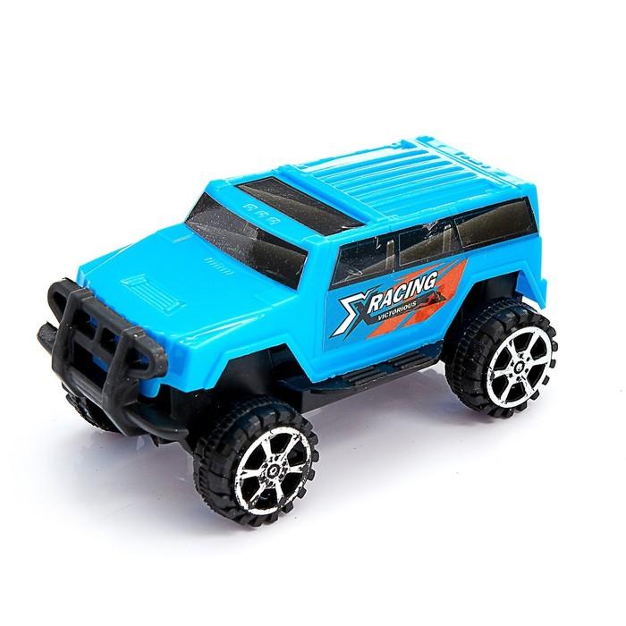 Машина инерционная «Джип» 4 x 4 см, цвета МИКС