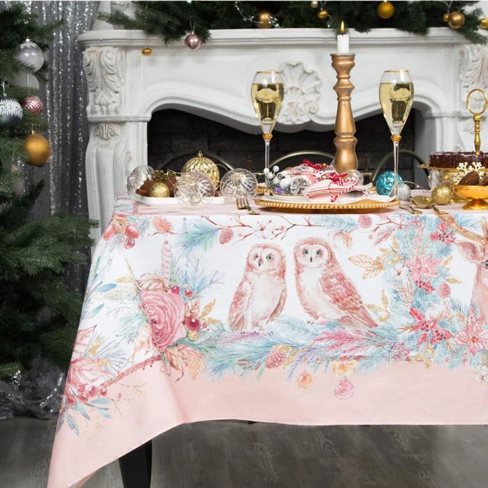 """Набор столовый Этель """"Pink magic"""" скатерть 110*150 см, салф. 40*40 см-4 шт, хл100%"""